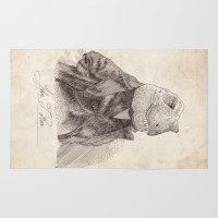 bouletcorp Area & Throw Rugs featuring John T. Rex by Bouletcorp