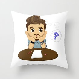 99.9% of the Time - Question Throw Pillow