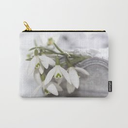 Snowdrops still life - Flower Floral Flowers #Society6 Carry-All Pouch