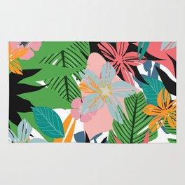 tropical plants Rug