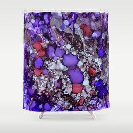 Erratic Purple Shower Curtain