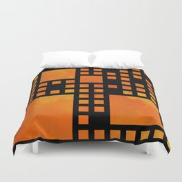 Visopolis V1 - orange flames Duvet Cover