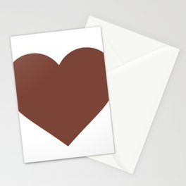 Heart (Brown & White) Stationery Cards