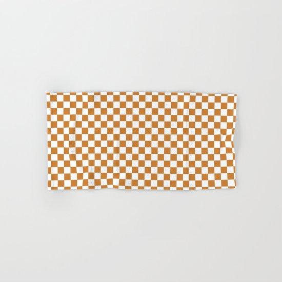 Checker (Bronze/White) Hand & Bath Towel