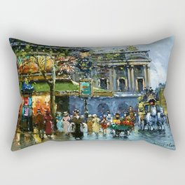 Paris Cafe de la Paix, Opera by Antoine Blanchard Rectangular Pillow