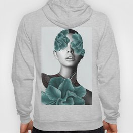 Floral Portrait (woman) Hoody