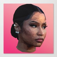 minaj Canvas Prints featuring Nicki by Joshua Burkett Designs