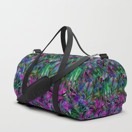 Floral Abstract Stained Glass G276 Duffle Bag