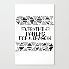 Triangles Saying 1 Canvas Print