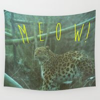 meow Wall Tapestries featuring MEOW! by LUKE FORSH∆W