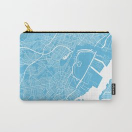 Newark map blue Carry-All Pouch