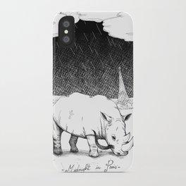 Rhino during Midnight in Paris iPhone Case