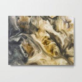 Purgatory Watercolor Abstract Painting Metal Print