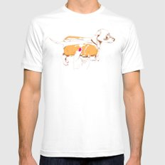 Chien Chaud White MEDIUM Mens Fitted Tee