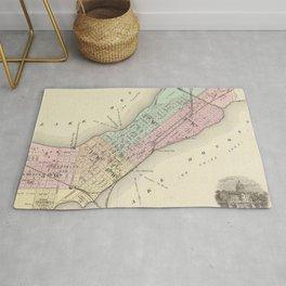 Vintage Map of Madison WI (1878) Rug