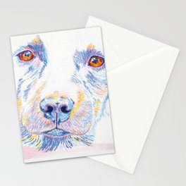 Lotte, the rescue dog Stationery Cards
