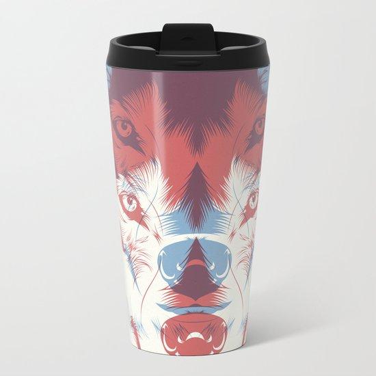 WOLF 3D Metal Travel Mug