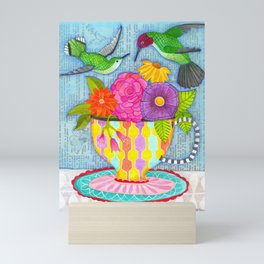 hummingbird tea Mini Art Print