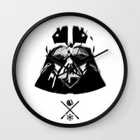 darth Wall Clocks featuring Darth. by Glassy