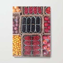 Fruit Stand, Amsterdam Metal Print