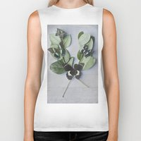 botanical Biker Tanks featuring Butterfly Botanical  by Pure Nature Photos