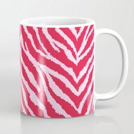 Red zebra fur texture Coffee Mug