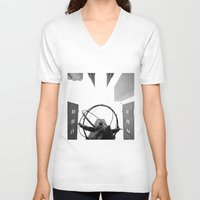 atlas V-neck T-shirts featuring Atlas by Evan Morris Cohen