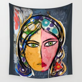 Portrait of a mystique girl Wall Tapestry