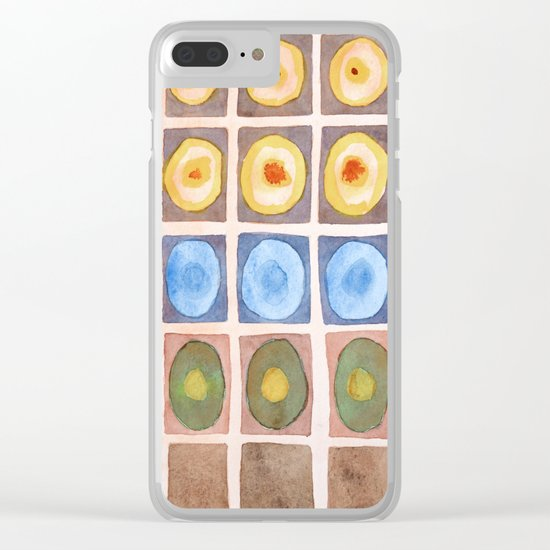 Secured Luminous Circles Clear iPhone Case