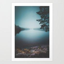 Lake insomnia Art Print