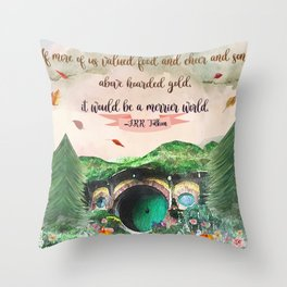 Merrier World Throw Pillow