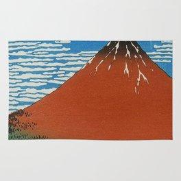Volcano Illustration Rug