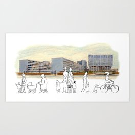 Busy Day at St. Thomas' Hospital, London Art Print