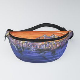 Ben Franklin Bridge Sunset Fanny Pack