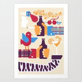 Dog house lounge Art Print