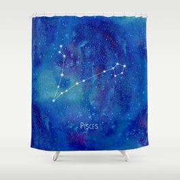 Constellation Pisces Shower Curtain