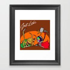 GET LOKI - DAFT PUNK Framed Art Print
