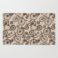 bicycles Area & Throw Rugs featuring Bicycles by Mario Zucca