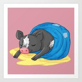 cow pig Art Print