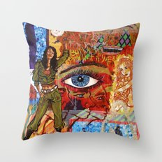 Militant Millie and the Peace Grenade Throw Pillow
