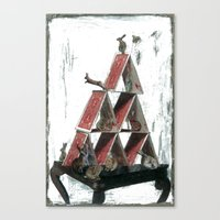 """house of cards Canvas Prints featuring """"House of Cards"""" by kat silver"""