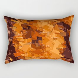 brown and dark brown painting abstract background Rectangular Pillow