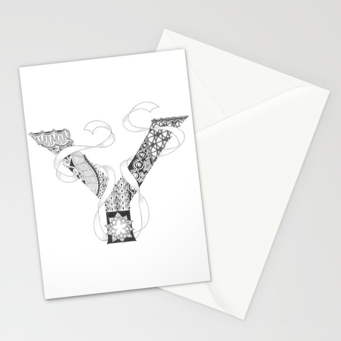 "Zenletter ""Y"" Stationery Cards"