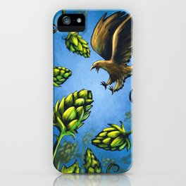Screaming Eagle and Raging Hops (Cool) iPhone Case