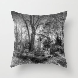 Highgate Cemetery London Throw Pillow