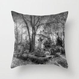 Highgate Cemetery London Throw Pillow