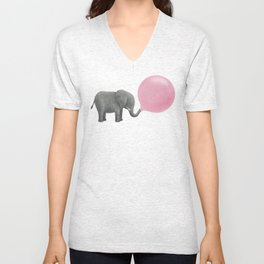 Jumbo Bubble Gum  Unisex V-Neck