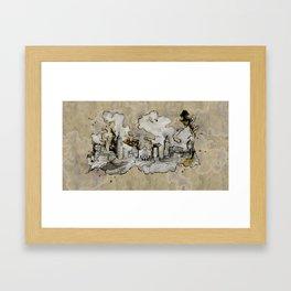 Cottbus Monument Skyline Illustration by carographic, Carolyn Mielke Framed Art Print