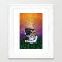 eddie vedder Framed Art Prints featuring eddie by Sam Buchanan