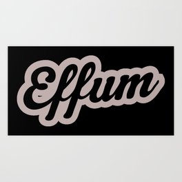 Effum logo word Art Print